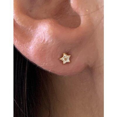 Brinco Estrela mini ouro