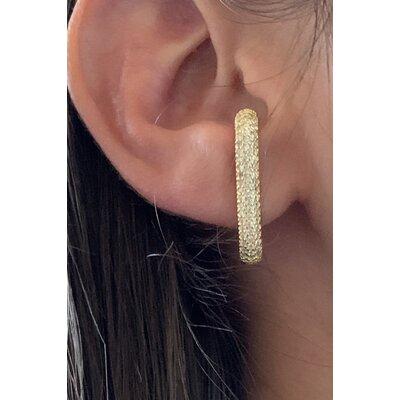 Ear Hook todo cravejado ouro