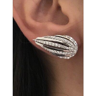 Ear cuff Asa cheia rodio