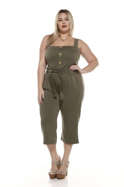 CROPPED PLUS SIZE VERDE