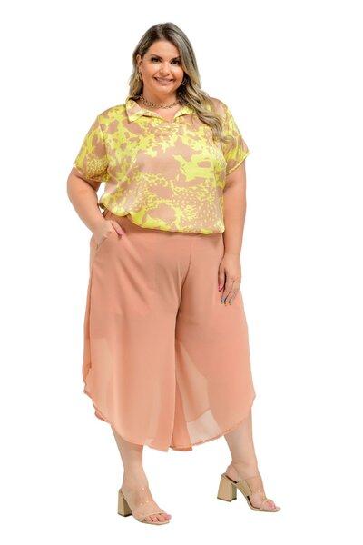 Blusa Plus Size de seda