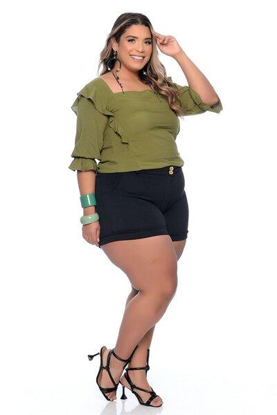 Blusa Plus Size em Viscose