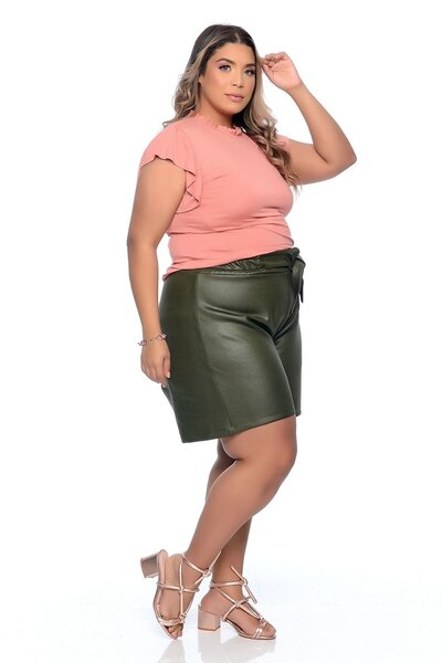 Short Neopreme lenner plus size laço