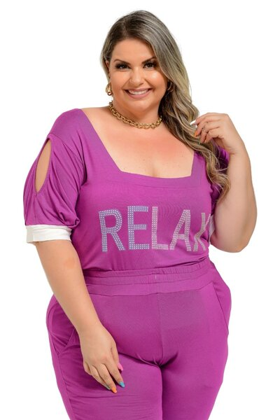 BLUSA PLUS SIZE VISCOLAYCRA