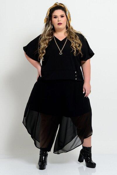 Blusa Plus Size de Crepe