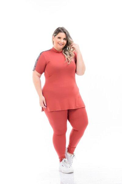 Calça plus size básica comfy
