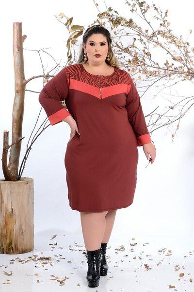 Vestido plus size de Viscolycra
