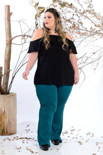 Blusa plus size ciganinha