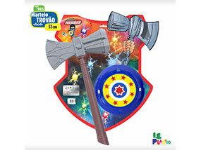 Martelo Trovão e Escudo <br> (53cm) <br> Cód: 985