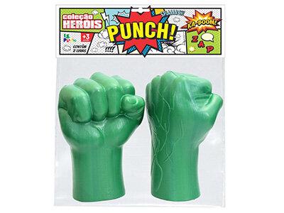 Luva Boxe Heróis <br>(26cm) <br> Cód: 855