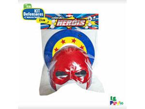 Kit Defensores com Máscara Heróis <br> (23cm) <br> Cód: 038