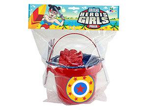 Balde de Praia Grande Girls <br> (15cm) <br> Cód: 008