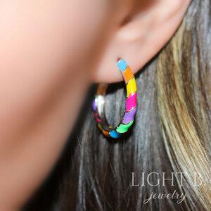Argola P Esmaltado Rainbow