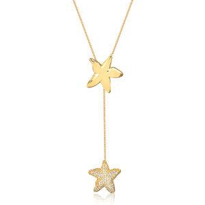 Colar Gravatinha Ocean Star Dourado