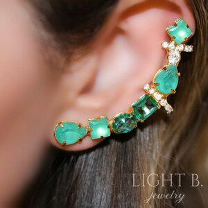 Ear Cuff Splendid Green