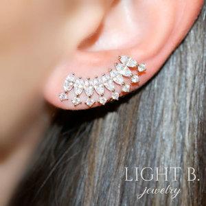 Ear Cuff Navetes e Zirconias