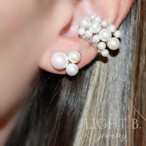 Brinco Three Pearls