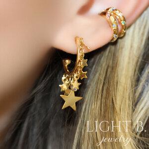 Mix Argola Stars Gold