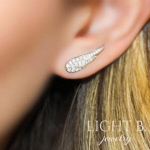 Ear Cuff Asa Prata