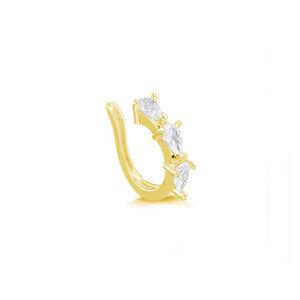 Piercing Falso Gotas Zircônias Gold (unidade)