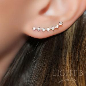 Ear Cuff Line Zircônias
