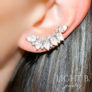 Ear Cuff Gotas e Zirconias
