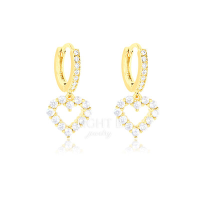 Argolinha Heart Vazada Gold