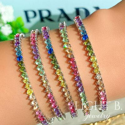 Pulseira Riviera 3 Garras Rainbow Candy