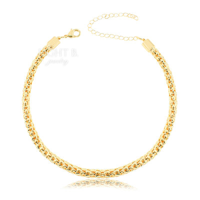 Choker Malha Luxo Gold