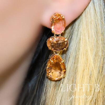 Brinco Pedras Britney Topázio Imperial