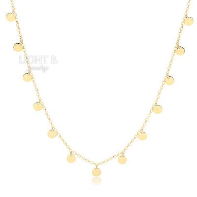 Colar Longo Plaquet Gold 70cm