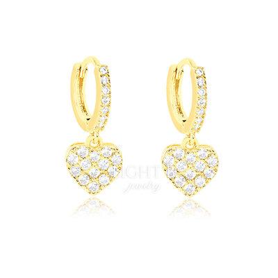 Argolinha Heart Cravejada Gold