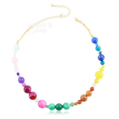 Colar Balls Cristais Colors