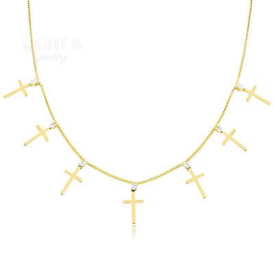 Choker Multi Cross Gold
