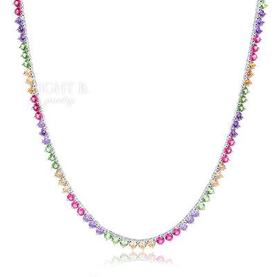 Colar Riviera 3 Garras Rainbow Candy 40cm