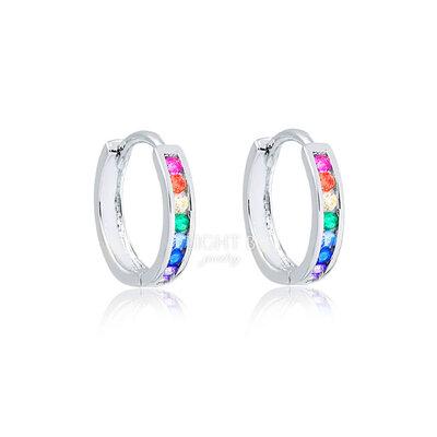 Argolinha Fine Carré Rainbow