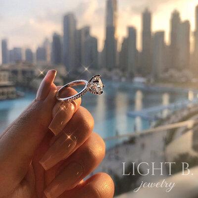 Anel Solitário Dubai Luxo