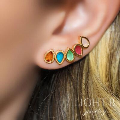 Ear Cuff Gotas Colors