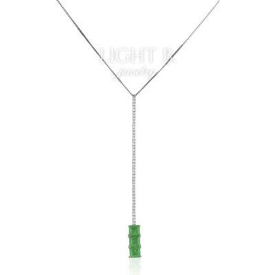 Colar Gravatinha Regulável Quadrados Esmeralda Fusion