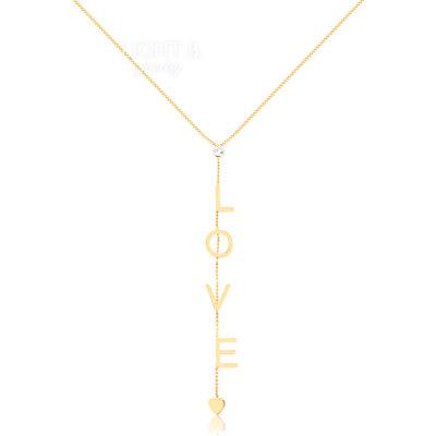 Colar Gravatinha Love Gold
