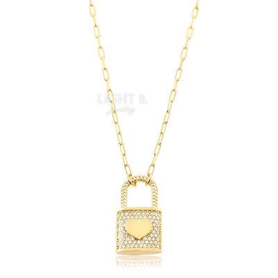 Colar Cadeado Coração Thassia Gold