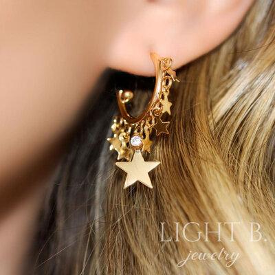 Argola Stars Gold