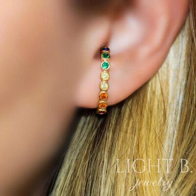 Ear Hook Cravação Inglesa Rainbow Gold