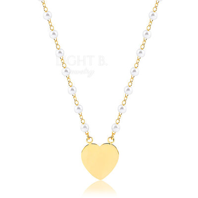 Colar Heart and Pearls