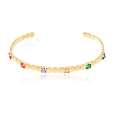 Bracelete Dots Colors Gold