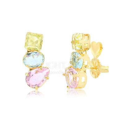 Ear Cuff 3 Stones Colors