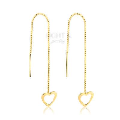 Brinco Line Heart Vazado Gold