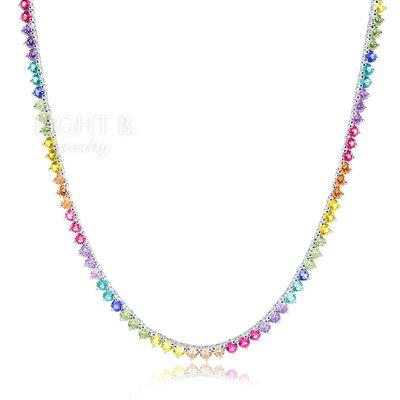 Colar Riviera 3 Garras Rainbow 40cm