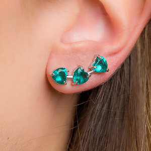 Brinco Ear Cuff Heart