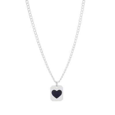 Colar Medalha Black Heart
